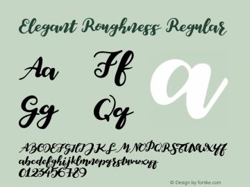 Elegant Roughness Regular Version 1.002;Fontself Maker 1.1.0 Font Sample