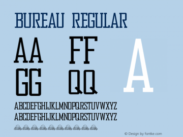 Bureau Regular Version 1.1 December 30, 2016. Font Sample