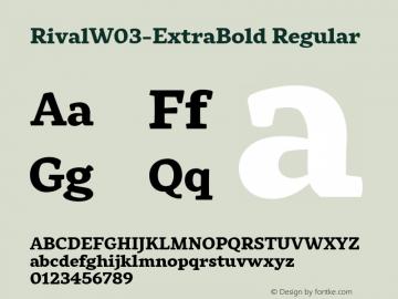 RivalW03-ExtraBold Regular Version 1.00 Font Sample