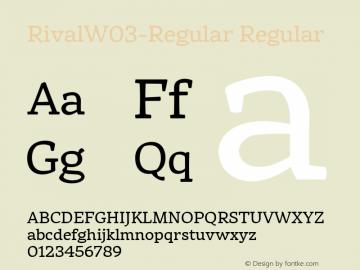 RivalW03-Regular Regular Version 1.00 Font Sample