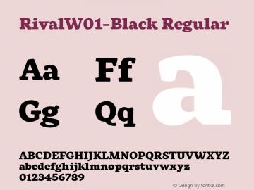 RivalW01-Black Regular Version 1.00 Font Sample