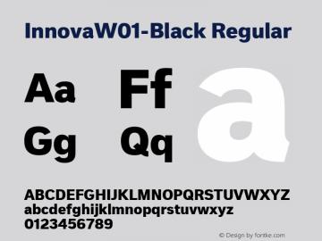 InnovaW01-Black Regular Version 1.50 Font Sample