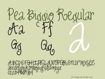 Pea Biggio Regular Version 1.00 June 8, 2009, initial release Font Sample