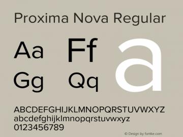 Proxima Nova Regular Version 2.015;PS 002.015;hotconv 1.0.70;makeotf.lib2.5.58329 Font Sample