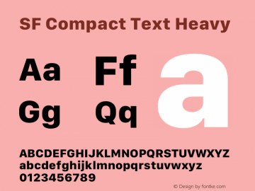 SF Compact Text Heavy Version 1.00 May 6, 2016, initial release Font Sample