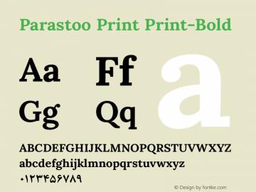 Parastoo Print Print-Bold Version 1.0.0-alpha3 Font Sample