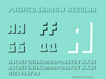 Pacifico Shadow Regular Version 1.101;PS 001.001;hotconv 1.0.38 Font Sample