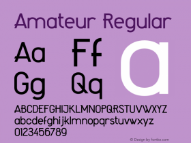 Amateur Regular Version 1.000;PS 001.000;hotconv 1.0.70;makeotf.lib2.5.58329 Font Sample