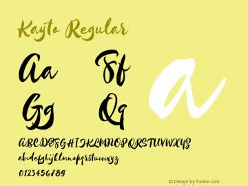 Kayto Regular Version 1.1 Majestype Font Sample