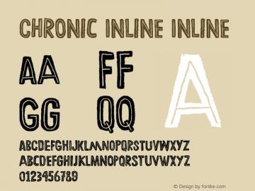 Chronic Inline Inline Version 001.000 Font Sample
