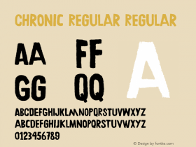 Chronic Regular Regular Version 001.000 Font Sample