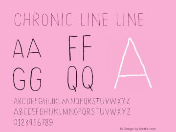 Chronic Line Line Version 001.000 Font Sample