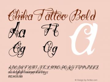 ChikaTattoo Bold Version 1.000;com.myfonts.easy.otto-maurer.chika-tattoo.thin.wfkit2.version.4pHM Font Sample