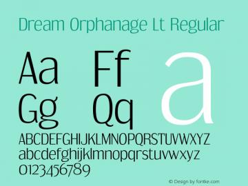 Dream Orphanage Lt Regular Version 1.000 Font Sample
