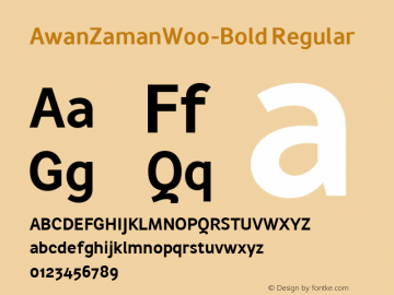 AwanZamanW00-Bold Regular Version 1.17 Font Sample
