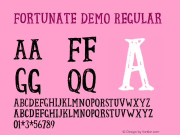 Fortunate DEMO Regular Version 1.000图片样张
