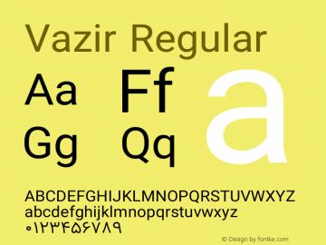 Vazir Regular Version 7.1.0 Font Sample