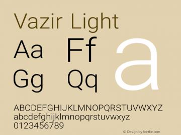 Vazir Light Version 7.1.0 Font Sample