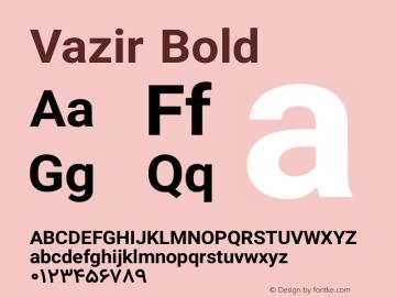 Vazir Bold Version 7.1.0 Font Sample