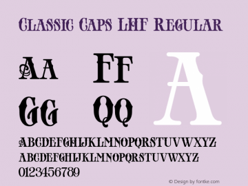 Classic Caps LHF Regular Version 001.002 Font Sample