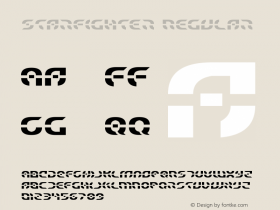 Starfighter Regular Version 3.0; 2017 Font Sample
