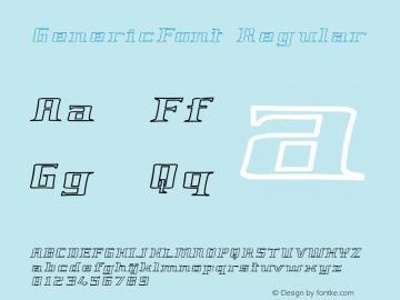 GenericFont Regular GenericFont Font Sample