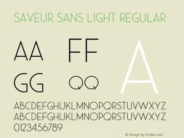 Saveur Sans Light Regular Version 1.000;PS 001.000;hotconv 1.0.88;makeotf.lib2.5.64775 Font Sample