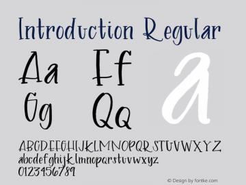 Introduction Regular Version 1.001;Fontself Maker 1.1.0 Font Sample