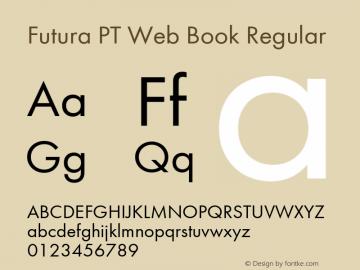 Futura PT Web Book Regular Version 1.006W Font Sample
