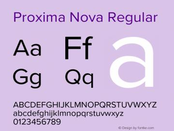 Proxima Nova Regular Version 3.008;PS 003.008;hotconv 1.0.88;makeotf.lib2.5.64775 Font Sample