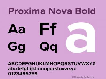 Proxima Nova Bold Version 3.008;PS 003.008;hotconv 1.0.88;makeotf.lib2.5.64775 Font Sample