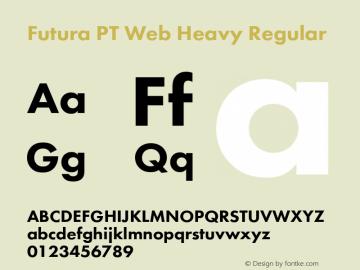Futura PT Web Heavy Regular Version 1.002W Font Sample