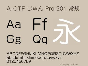 A-OTF じゅん Pro 201 常规 OTF 1.001;PS 1;Core 1.0.33;makeotf.lib1.4.1585 Font Sample