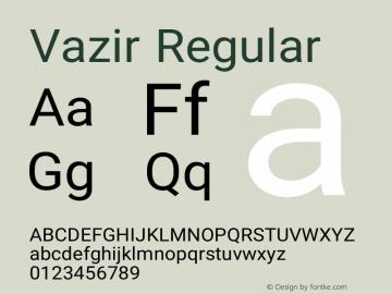 Vazir Regular Version 8.0.0 Font Sample