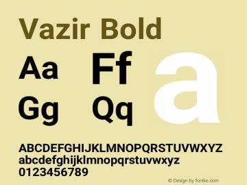 Vazir Bold Version 8.0.0 Font Sample