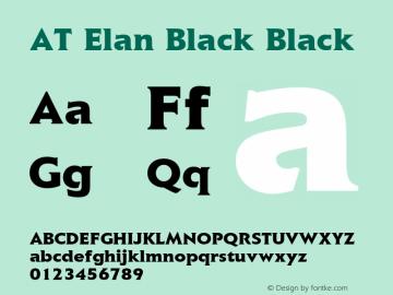 AT Elan Black Black 1.0 Font Sample