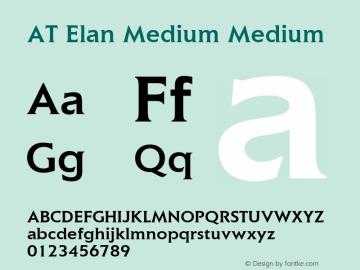 AT Elan Medium Medium 1.0 Font Sample