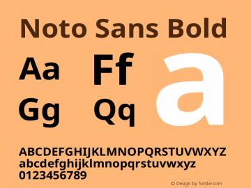 Noto Sans Bold Version 1.902 Font Sample