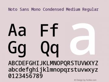 Noto Sans Mono Condensed Medium Font,Noto Sans Mono Font