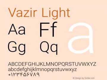 Vazir Light Version 8.1.0 Font Sample