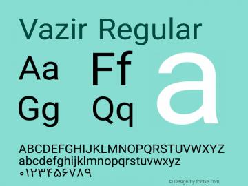 Vazir Regular Version 8.1.0 Font Sample