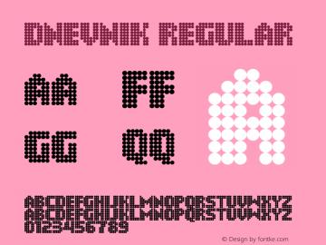 Dnevnik Regular Version 1.0 Font Sample