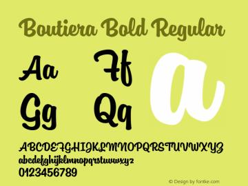 Boutiera Bold Regular Version 1.000;PS 001.000;hotconv 1.0.88;makeotf.lib2.5.64775 Font Sample