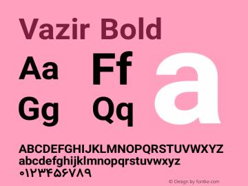 Vazir Bold Version 8.2.0 Font Sample