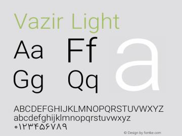 Vazir Light Version 8.2.1 Font Sample