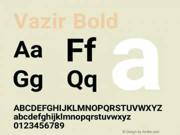 Vazir Bold Version 8.2.1 Font Sample