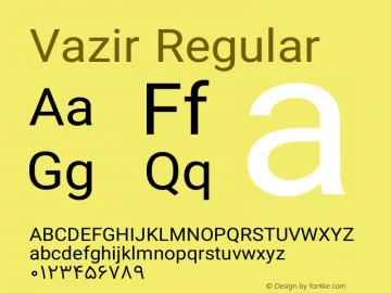 Vazir Regular Version 8.2.1 Font Sample