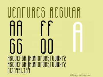 Ventures Regular Version 1.000 Font Sample