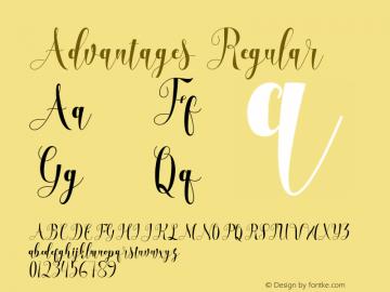 Advantages Regular Version 1.000 Font Sample