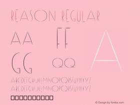 Reason Regular Version 1 Font Sample
